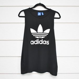 Adidas Black Large Logo Sleeveless Tank
